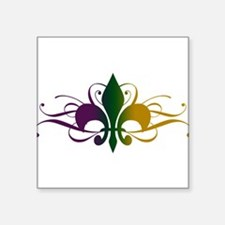 "fleur-de-lis-swirls_color.png Square Sticker 3"" x"