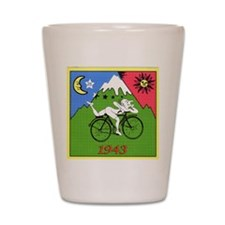 Bicycle Day Shot Glass