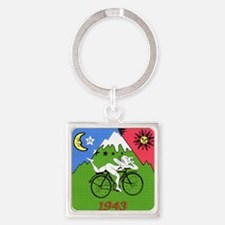 Bicycle Day Square Keychain