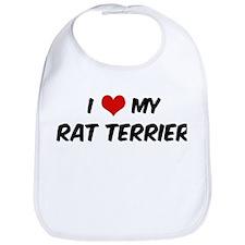 I Love: Rat Terrier Bib