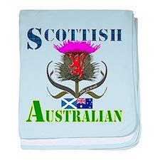 Scottish Australian Thistle baby blanket