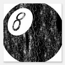 """8ball_tr.png Square Car Magnet 3"""" x 3"""""""