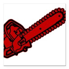 """chainsaw-heart.png Square Car Magnet 3"""" x 3"""""""
