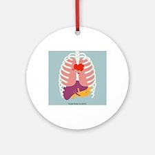 Hugs Keep Us Alive Round Ornament