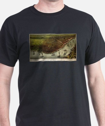 The city of New Orleans - 1885 T-Shirt