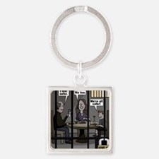We're All Safer! Square Keychain