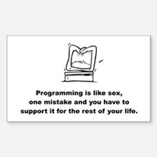 Programmer Rectangle Decal