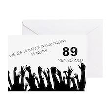 89th birthday party invitation Greeting Card