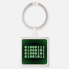 Binary code for GEEK Square Keychain