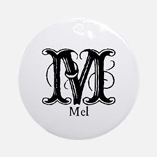 Mel: Fancy Monogram Ornament (Round)
