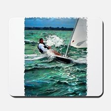 Laser Sailboat Mousepad