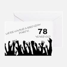 78th birthday party invitation Greeting Card