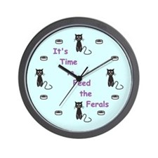 Its Time To Feed The Ferals Wall Clock