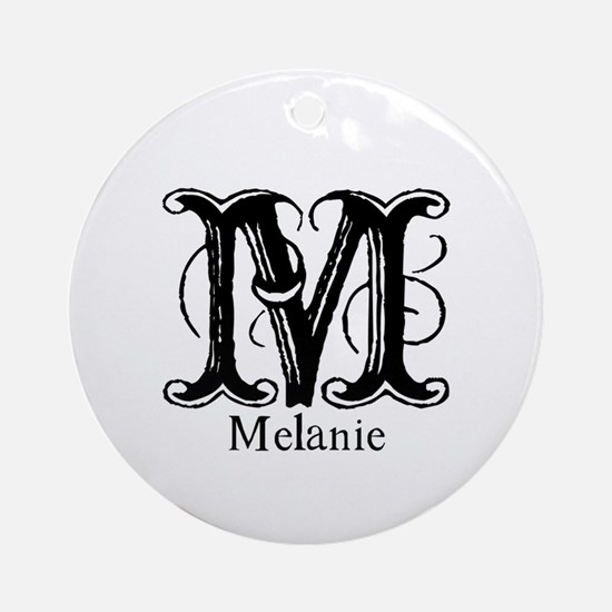Melanie: Fancy Monogram Ornament (Round)
