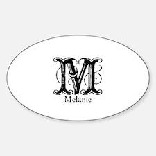 Melanie: Fancy Monogram Oval Decal