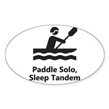 Solo Paddle Black Decal
