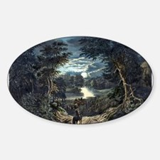 The harvest moon - 1870 Sticker (Oval)