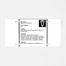 Lacrosse Midde Definition Aluminum License Plate