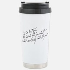 So We Beat On Black Travel Mug