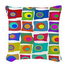 Mid Century Modern Woven Throw Pillow