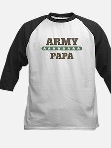 Army Stars Papa Kids Baseball Jersey