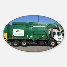 garbage truck love Decal