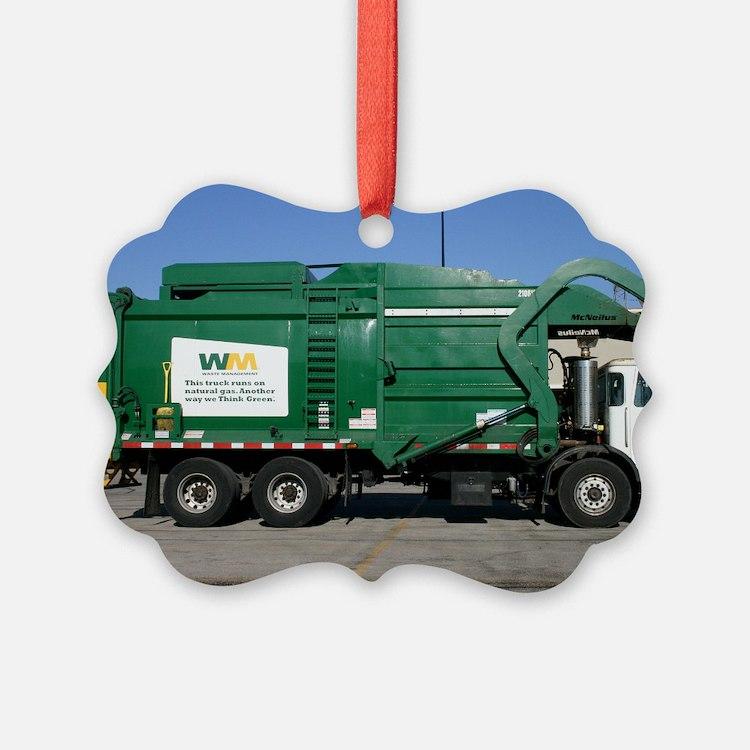 garbage truck love Ornament
