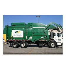 garbage truck love Postcards (Package of 8)