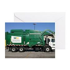 garbage truck love Greeting Card
