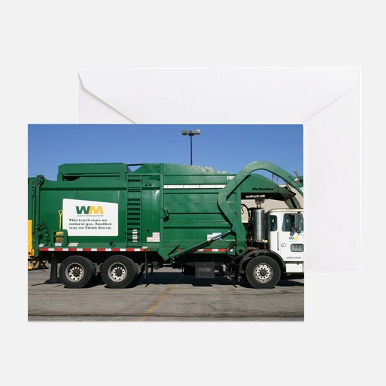 garbage truck love Greeting Card