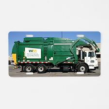 garbage truck love Aluminum License Plate