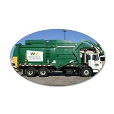 garbage truck love 35x21 Oval Wall Decal