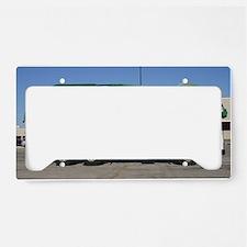 garbage truck love License Plate Holder