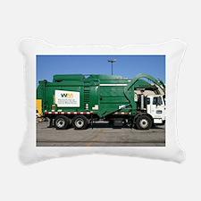 garbage truck love Rectangular Canvas Pillow