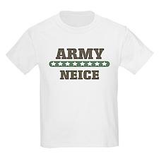 Army Stars Neice Kids T-Shirt