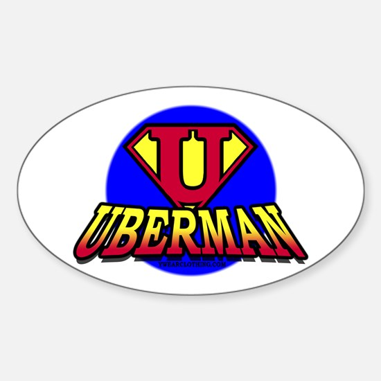 UberMan Oval Decal