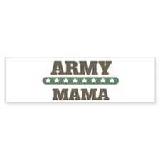 Army Stars Mama Bumper Car Sticker