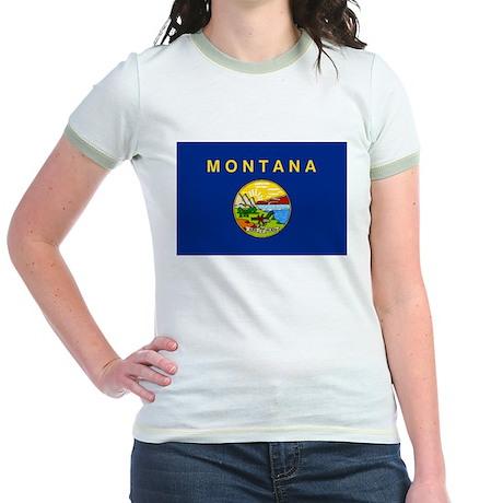 Montana Flag Jr. Ringer T-Shirt