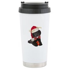Newfoundland puppy santa paws Travel Mug