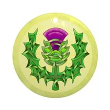 Heraldic Thistle Ornament (Round)