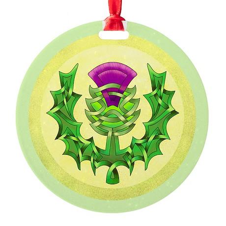 Heraldic Thistle Ornament