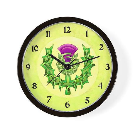 Heraldic Thistle Wall Clock