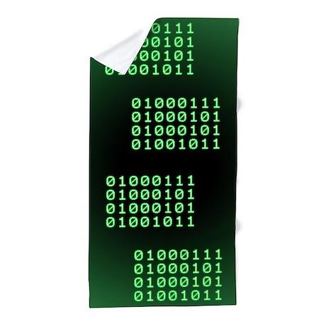Binary code for GEEK Beach Towel
