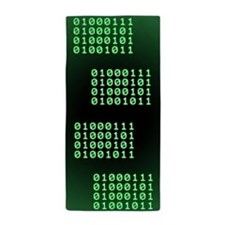 Binary code for GEEK Beach Towel