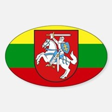 Lithuania w/ coat of arms Rectangle Bumper Stickers