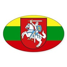 Lithuania w/ coat of arms Rectangle Decal