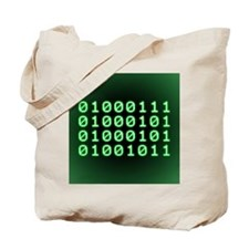 Binary code for GEEK Tote Bag