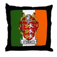 O'Brien Arms Tricolour Throw Pillow
