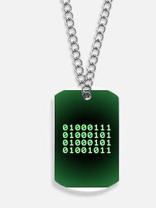 Binary code for GEEK Dog Tags