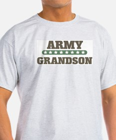 Army Stars Grandson Ash Grey T-Shirt